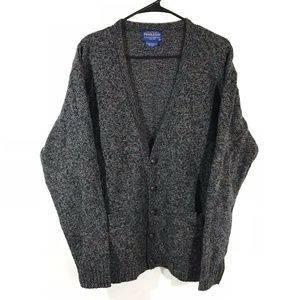 Pendleton Gray Wool Sweater Blazer Vintage Mens M